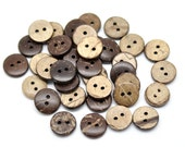 12 Brown Coconut Shirt Buttons 13mm - Natural Wood and Eco Friendly  (BC603G)
