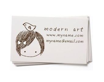 Business Card Stamp   Custom Rubber Stamp   Custom Stamp   Personalized Stamp   Doll Stamp   Girl Stamp   Any of our Dolls   BC27