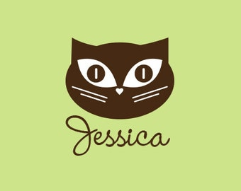 Custom Rubber Stamp   Custom Stamp   Personalized Stamp   Cat Stamp   Kitty Stamp   C45