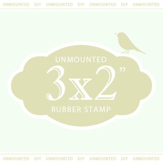 "Custom Rubber Stamp  Custom Stamp  Custom Logo Stamp  Custom Wedding Stamp  Personalized Stamp  Business Card Stamp  3 x 2"" UNMOUNTED"