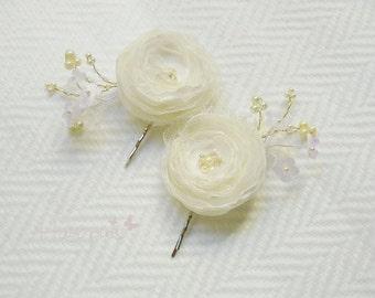 Bridal hair pins or shoe clips, Handmade bridal hair Accessories,Veil Accessory