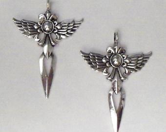 Silver Winged Goddess Pendant