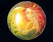 Sphere - 8 x 10 Art Print - Oil Pastel Etching