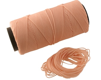 Blush: Waxed Polyester Cord, ~1mm Macrame Cord, pack of 25ft (8.33 yards) / Hilo Encerado, Linha Encerada, Waxed Polyester Thread
