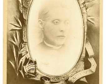 Ghostly Woman - Unusual Mourning/Memorial - Cabinet Card