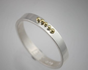 5 Gold Ball Ring (Made to Order)