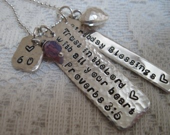 Life Verse, Life Quote, Special Message Hand Stamped, Anniversary, Graduation, Birthday, One of a Kind Gift for Her