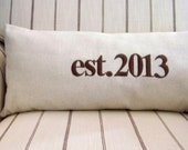 ON VACATIONcustom established pillow cover- personalized wedding pillow- embroidered -  wedding - engagement - anniversary - personalized w