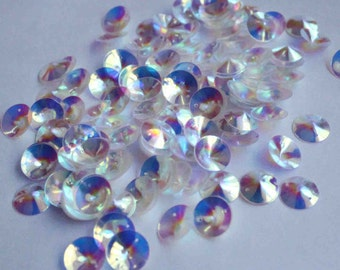 75 Transparent Rainbow 3D Sequins/ KBRS026