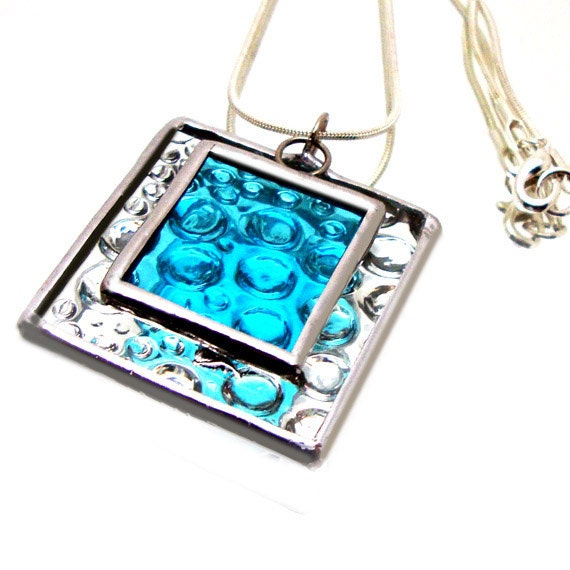 Raindrops Stained Glass Jewelry Necklace