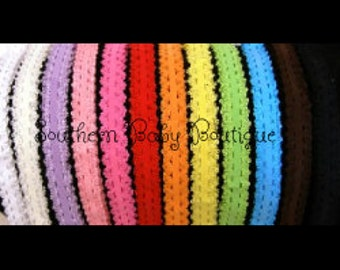 NEW ITEM----10 INTERCHANGABLE Lace Baby Headbands---You Pick Colors---5/8 inch