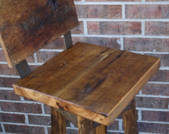 """YOUR Custom Reclaimed Rustic Swivel Oak Barn Wood and Metal 24""""-36"""" Top Bar Stool with Backs and Paint or Stain. FREE SHIPPING - SBSSBC180F"""