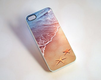 iPhone 7 Case, Phone Case, Beach and Starfish Phone Case - nautical, summer