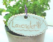 Garden Marker Plant Stake Handmade Indoor Outdoor Wiggly Design Herb Word Choice Available