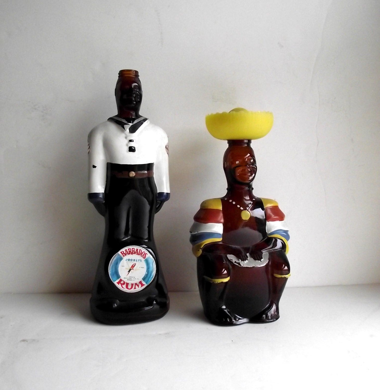 Rum bottles vintage 70s angostura limbo drummer by judygovintage