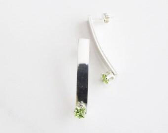 Peridot Drop Earrings - Green August Birthstone