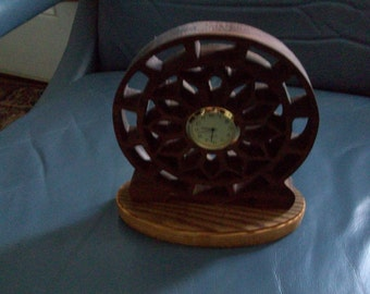 Wooden detailed fretwork clock