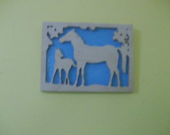 Wooden Horses wall hanging