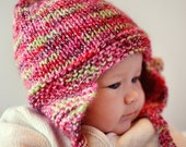 Knitting Pattern Earflap Hat Baby Child and Adult sizes FREYA Instant Download