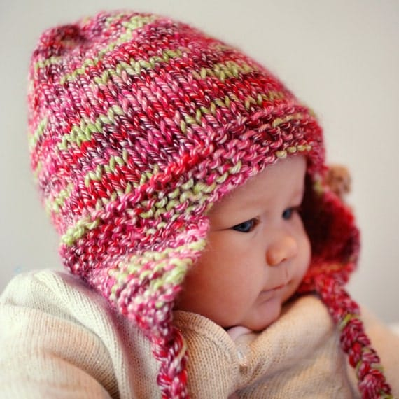 Knitting Pattern Baby Hat With Ear Flaps : Knitting Patterns Baby Hats Earflaps images