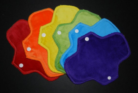 Minky Rainbow<p>Set of 6 Pantyliners