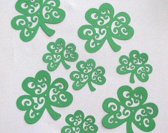 St. Patricks day shamrocks set of 10