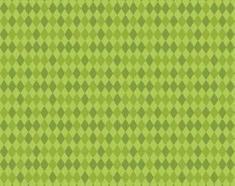 Bailey Harlequin in Green by Maude Ashbury for Blend Fabrics - 1 Yard