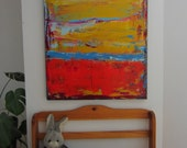 Large AbstractModern Painting Gold Art 30x40 inches by Francine Ethier