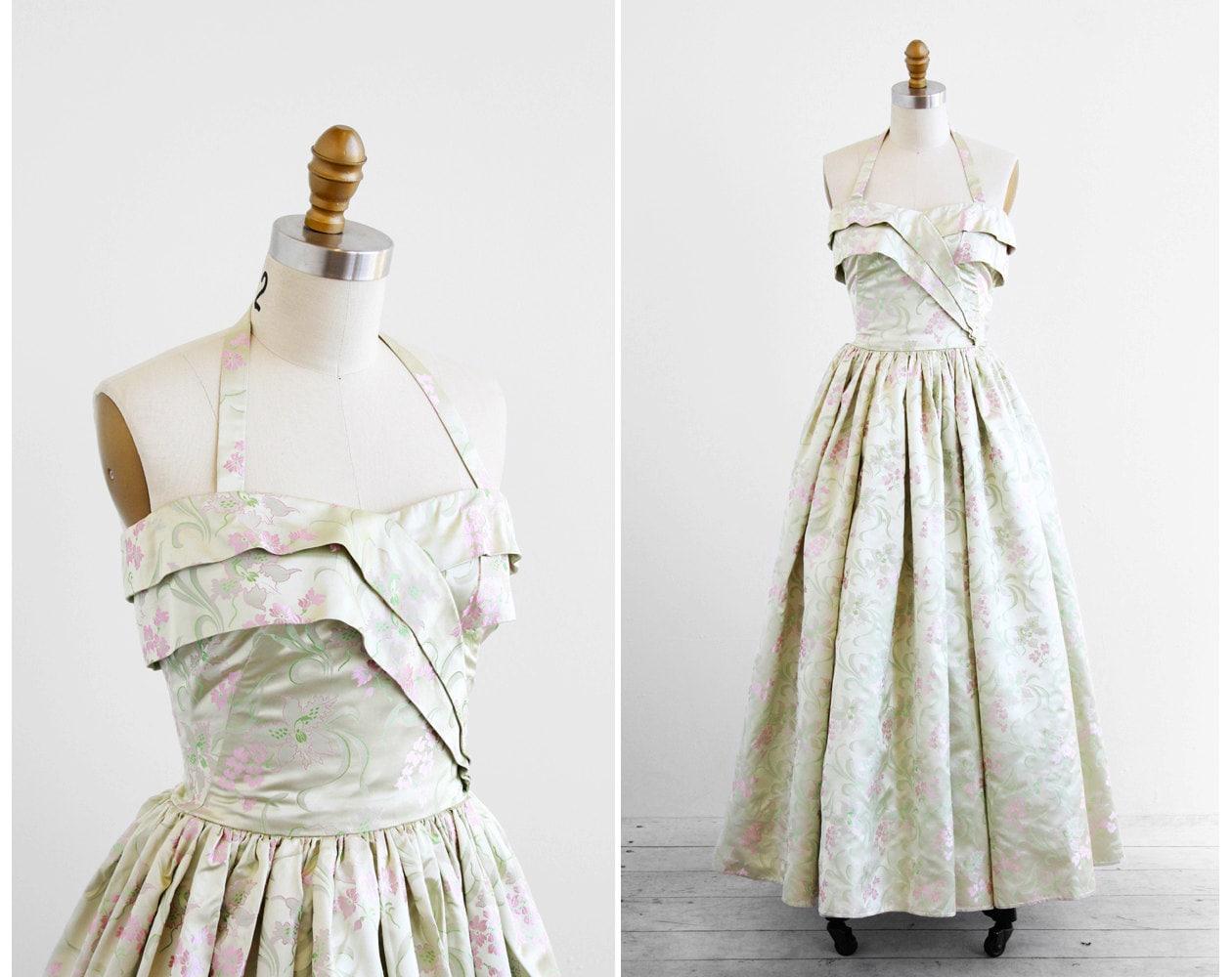 Classic Wedding Dress Satin: Vintage 1940s Dress / 1940s Wedding Dress / By RococoVintage
