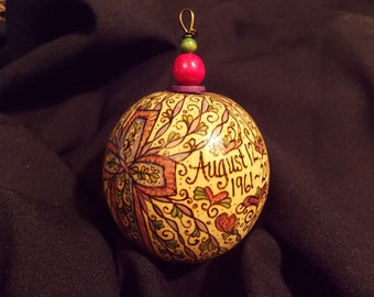 Personalized Large Intricate Ornament
