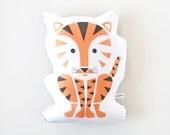 Tiger Pillow, Toy, Organic, Stuffed Animal, Jungle