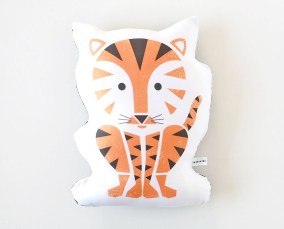 Tiger Pillow, Toy, Organic, Stuffed Animal, Jungle