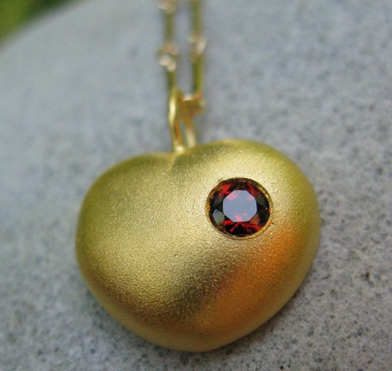 Love Actually Heart Necklace In Gold Plated By