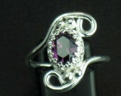 Sterling Silver and Amethyst Fairy Princess Ring