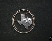 Texas State quarter cut coin necklace, real state quarter
