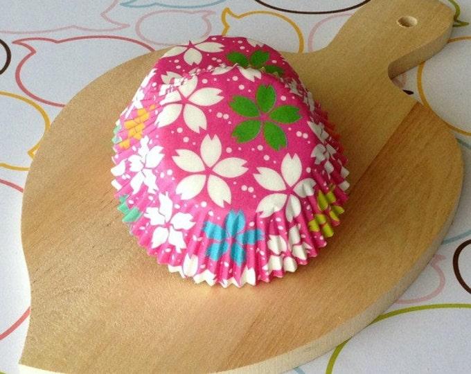 SALE - Sakura/Cherry Blossom Hot Pink Standard Cupcake Liners