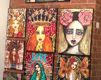 16x20 Embellished reproductions on canvas