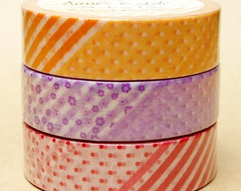 Aimez Washi Masking Tape - Patchwork Floral in Purple