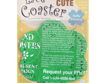 Season Lace Paper Doily - Green Monogram - pack 20