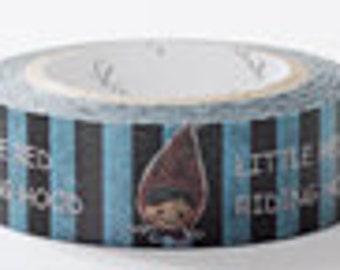 Shinzi Katoh Masking Tape - Little Red Riding Hood on Blue Stripes