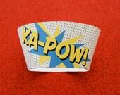KAPOW Super Hero PDF Printable Party Cupcake Wrappers  DIY