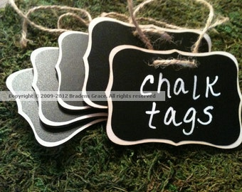 12 Fancy Wood Chalkboard Tags with Chalk Labels  - Basket Labels, Chalkboard Tags, Wedding Chalkboards, Rustic Wedding