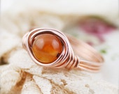Inspiration - Carnelian wire wrapped ring (SR)