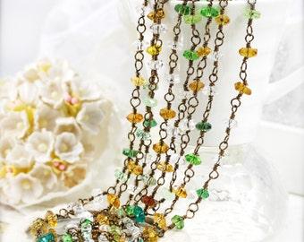 "Autumn pixie dainty necklace 68"""