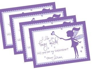 Printable Fairy Valentine Card
