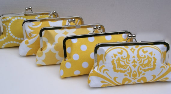 Yellow Wedding Clutch Set for Bridesmaids- Design your Own in Various Colors