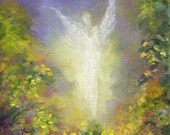 BLESSING ANGEL  Art Print, Framed and Signed From the Original oil painting by Marina Petro
