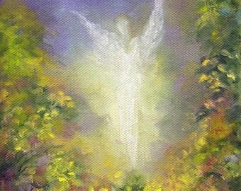 Angel, Blessing Angel Art Print, Spiritual Gift, Guardian Angel, Spiritual Wall Art, Wall Decor