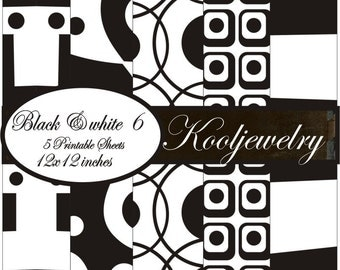 Black and White 6 Paper Pack - No. 96