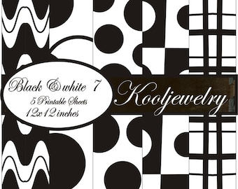 Black and White 7 Paper Pack - No. 97